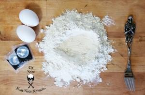 making squid ink pasta