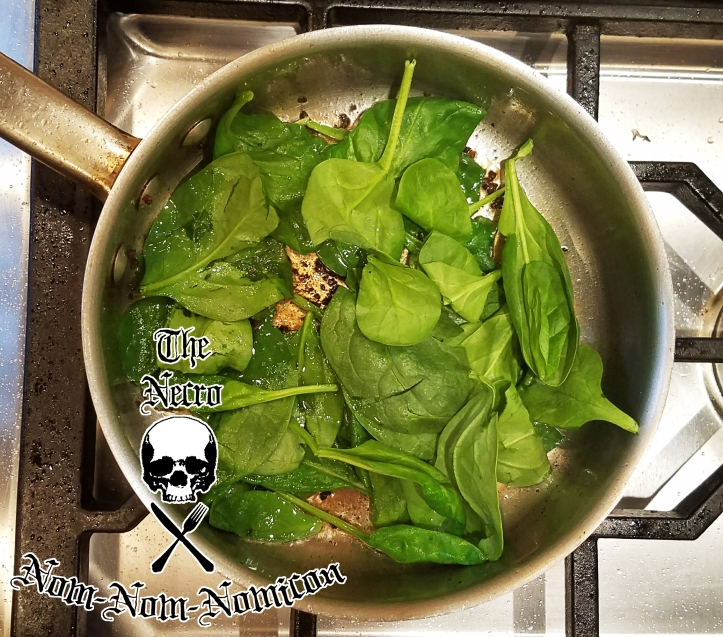 sauteeing-the-spinach