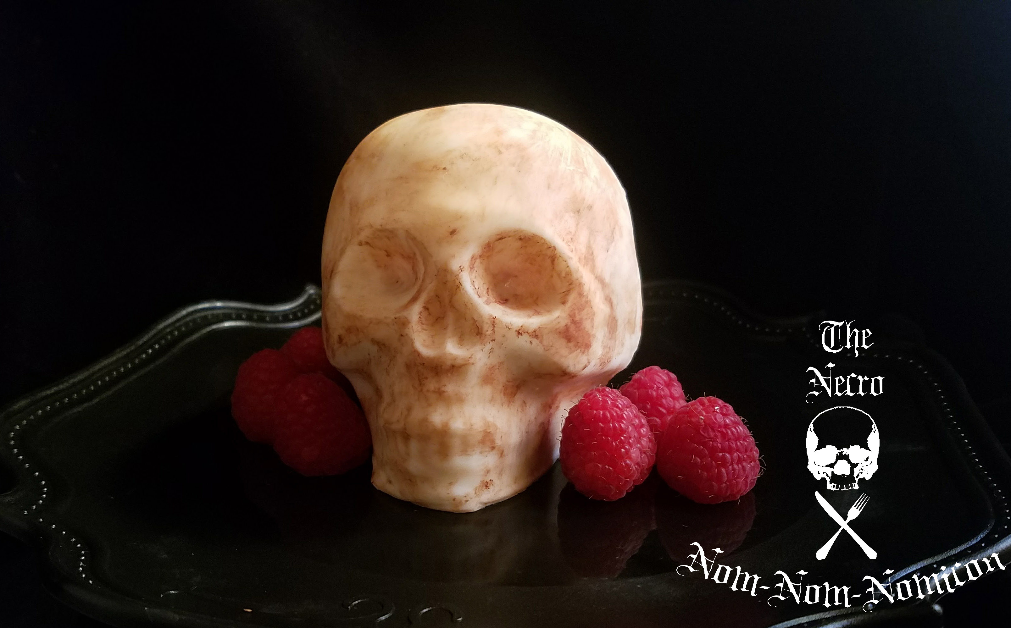 Disgustingly delicious archives eat the dead halloween food halloween recipe white chocolate skull bombe ccuart Image collections