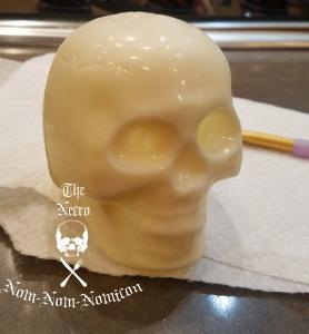 skull ready to paint