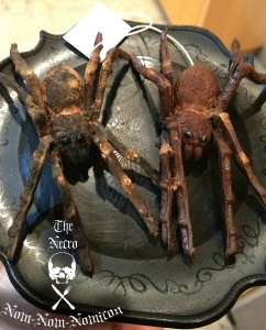 two finished spiders